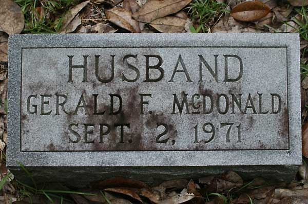 Gerald F. McDonald Gravestone Photo