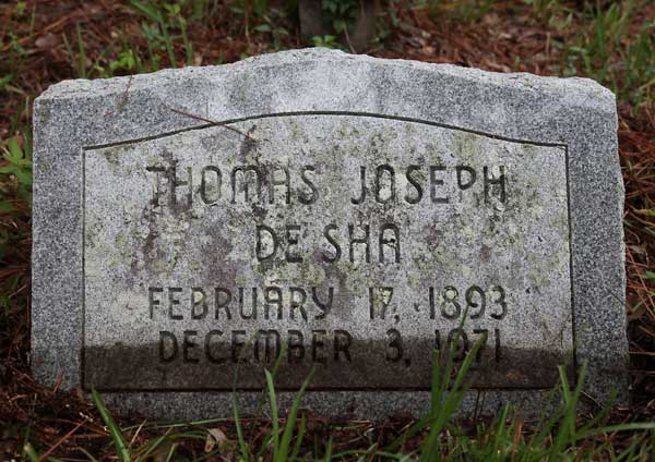Thomas Joseph DeSha Gravestone Photo