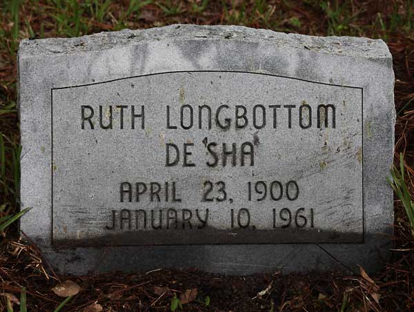 Ruth Longbottom DeSha Gravestone Photo