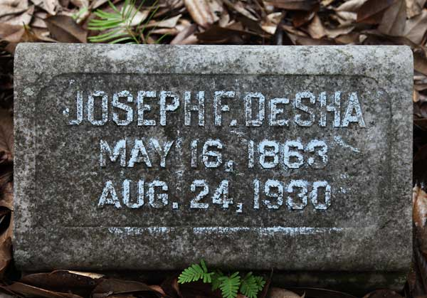 Joseph F. DeSha Gravestone Photo