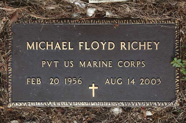 Michael Floyd Richey Gravestone Photo