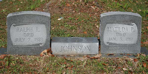 Ralph L. & Matilda P. Johnson Gravestone Photo