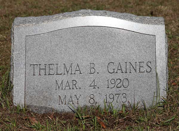 Thelma B. Gaines Gravestone Photo