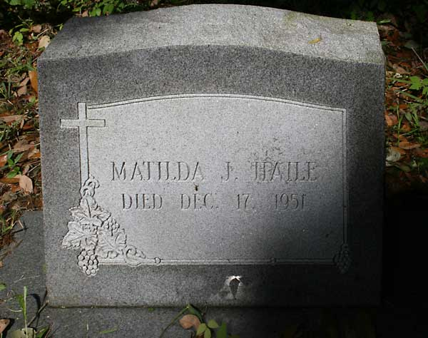 Matilda J. Haile Gravestone Photo