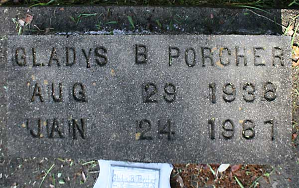 Gladys B. Porcher Gravestone Photo