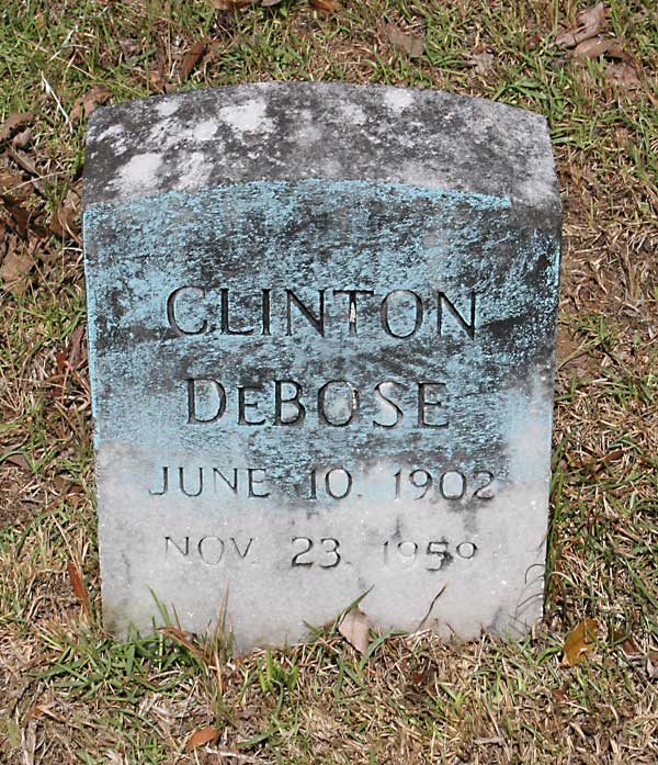Clinton DeBose Gravestone Photo