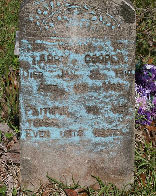 Tabby Cooper Gravestone Photo