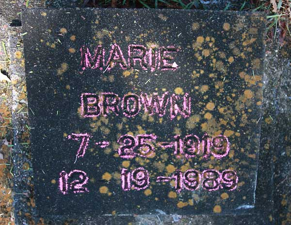 Marie Brown Gravestone Photo