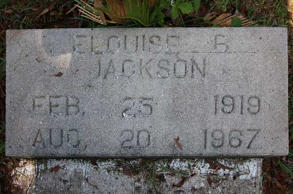 Elouise B. Jackson Gravestone Photo