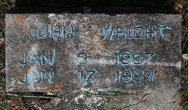 John Wright Gravestone Photo