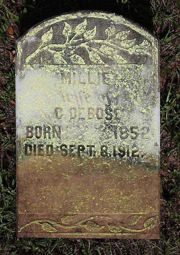 Millie DeBose Gravestone Photo