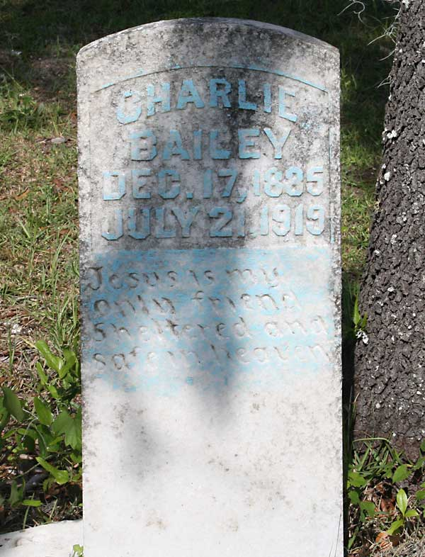 Charlie Bailey Gravestone Photo