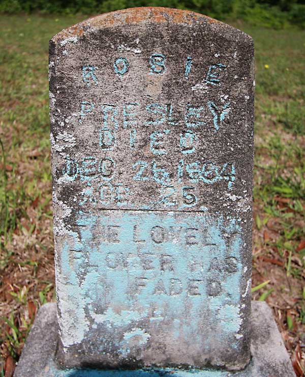 Rosie Presley Gravestone Photo