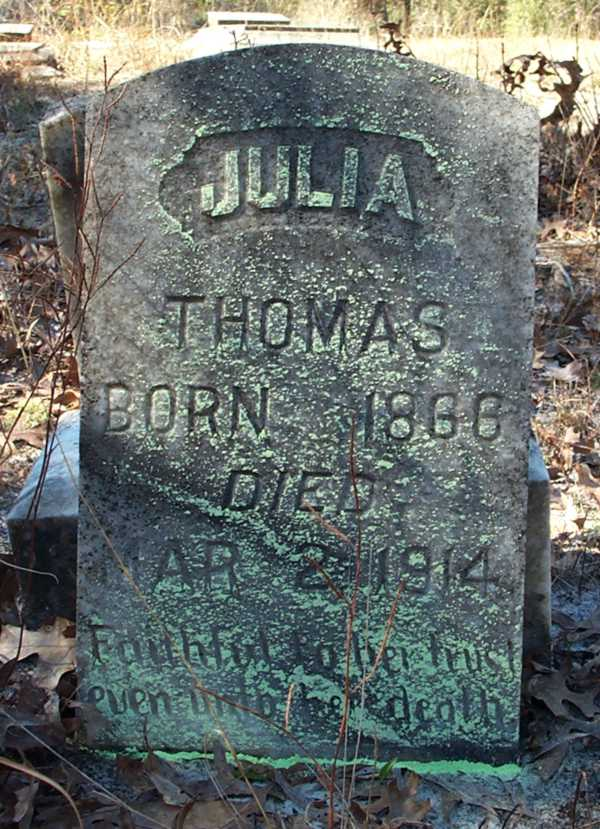 Julia Thomas Gravestone Photo