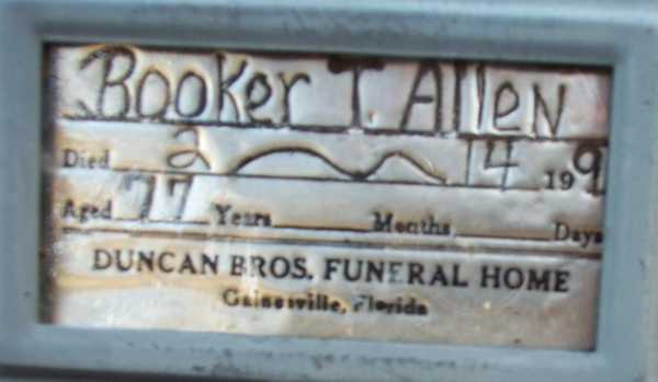 Booker T. Allen Gravestone Photo