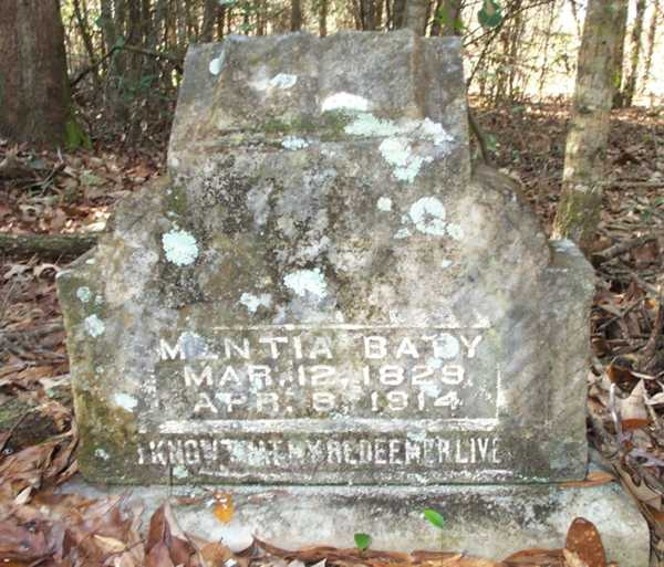 Mentia Baty Gravestone Photo