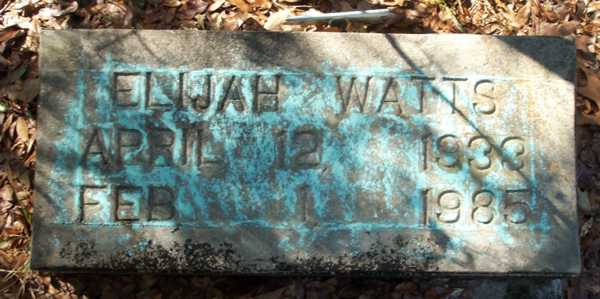 Elijah Watts Gravestone Photo