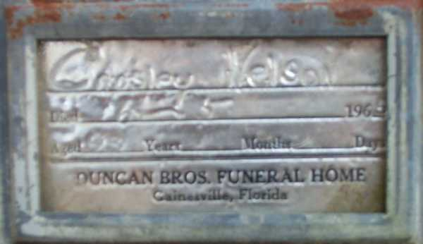 Crosley Nelson Gravestone Photo
