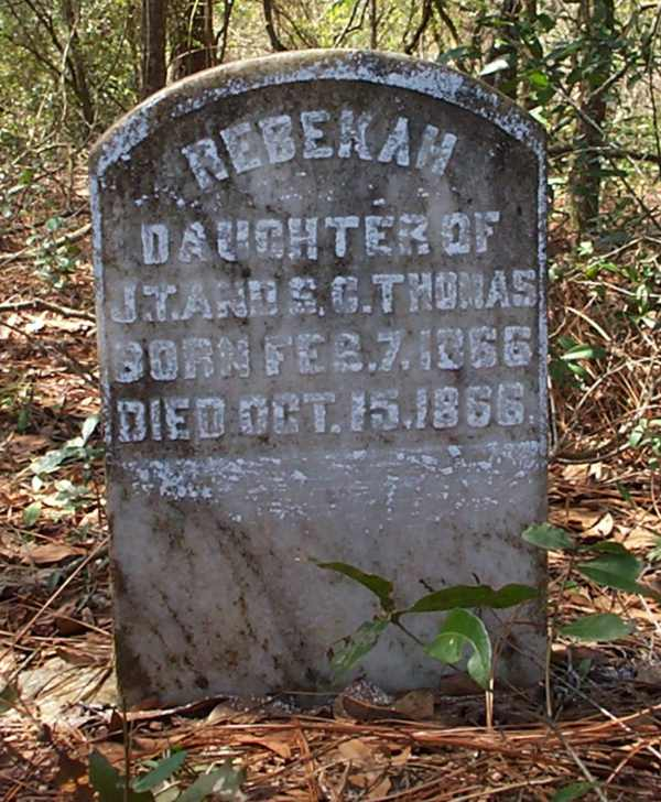 Rebekah Thomas Gravestone Photo