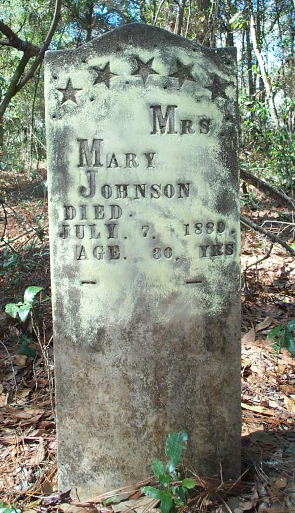 Mrs. Mary Johnson Gravestone Photo