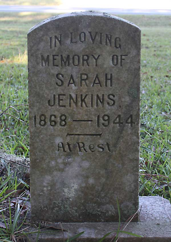 Sarah Jenkins Gravestone Photo
