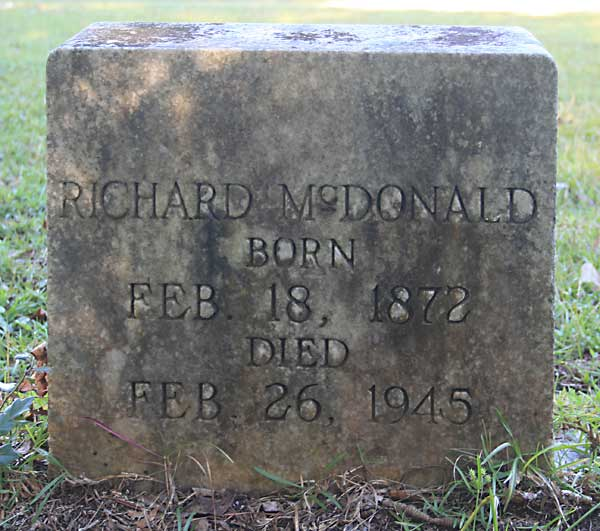 Richard McDonald Gravestone Photo