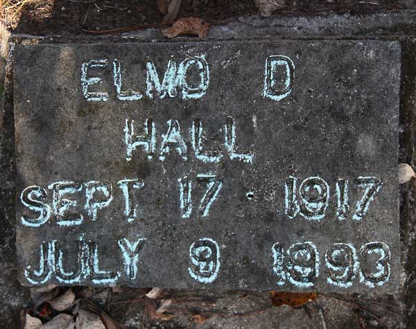 Elmo D. Hall Gravestone Photo