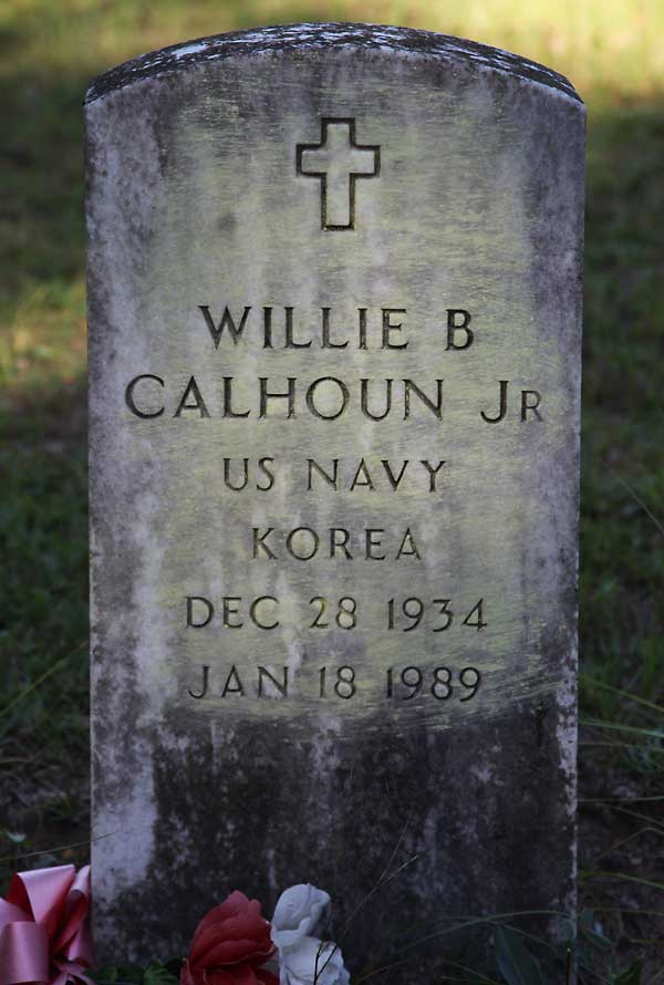 Willie B. Calhoun Gravestone Photo