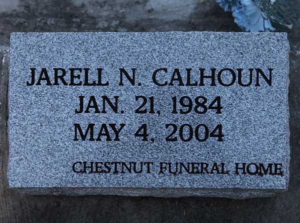 Jarrell N. Calhoun Gravestone Photo