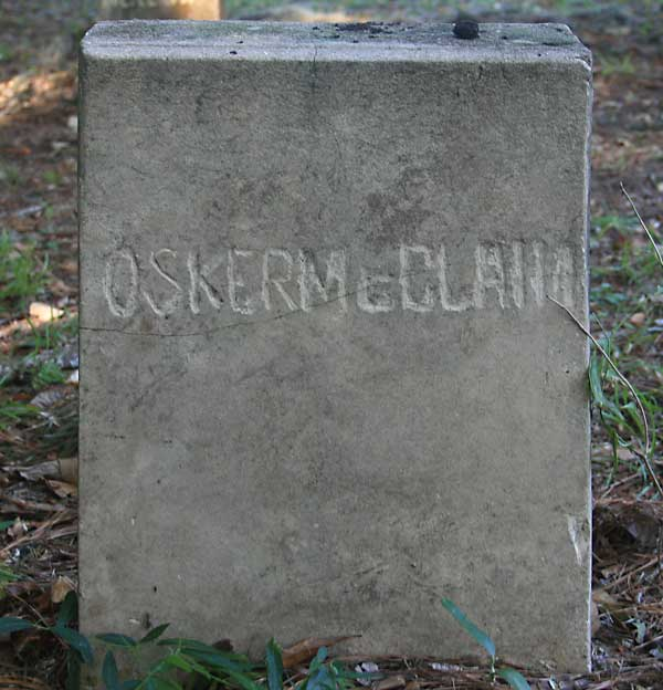 Osker McClain Gravestone Photo