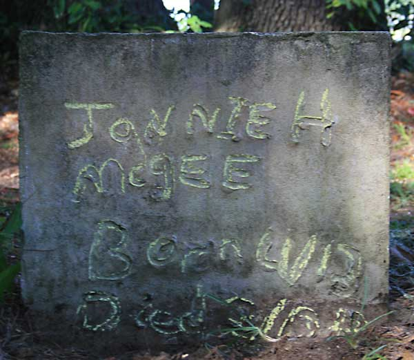 Jonnie H Mcgee Gravestone Photo