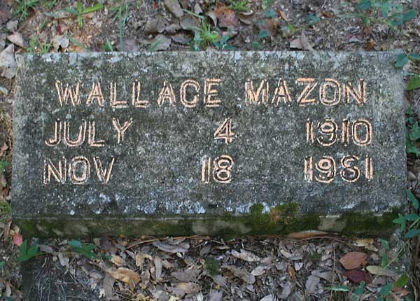 Wallace Mazon Gravestone Photo