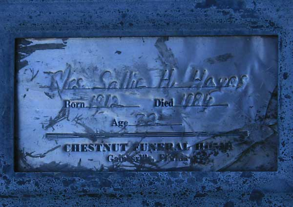 Sallie H. Hayes Gravestone Photo