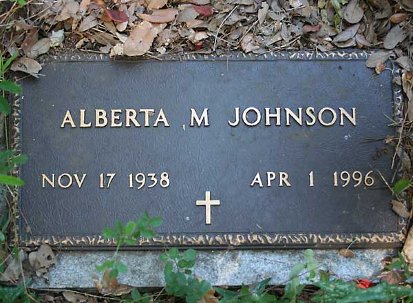 Alberta M. Johnson Gravestone Photo