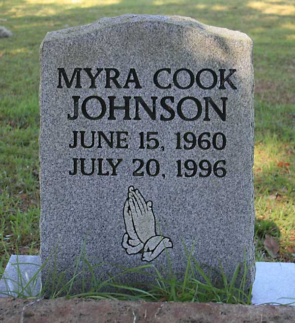 Myra Cook Johnson Gravestone Photo