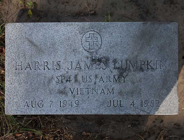 Harris James Lumpkin Gravestone Photo