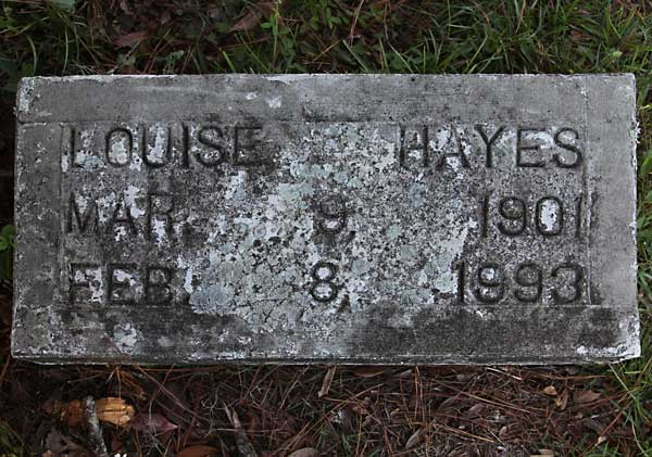 Louise Hayes Gravestone Photo