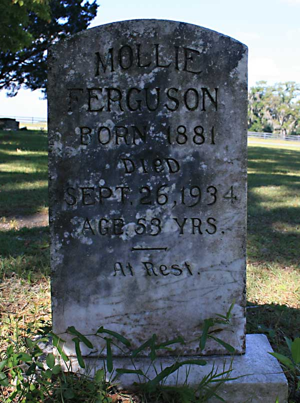 Mollie Ferguson Gravestone Photo