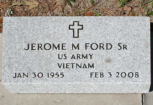 Jerome M. Ford Gravestone Photo