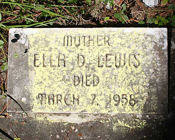Ella D. Lewis Gravestone Photo