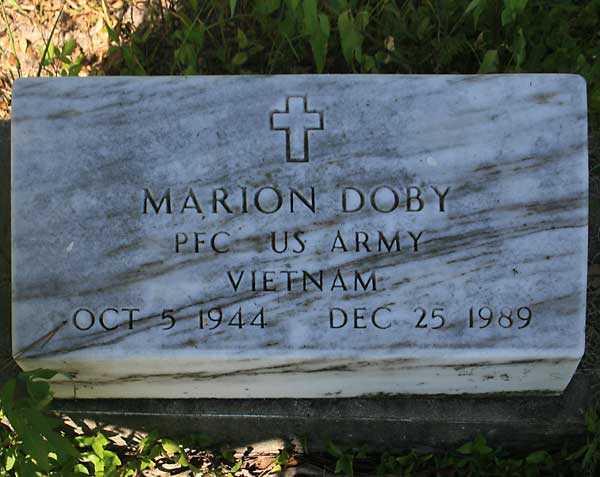 Marion Doby Gravestone Photo