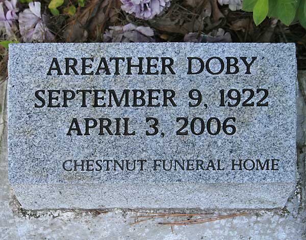 Areather Doby Gravestone Photo