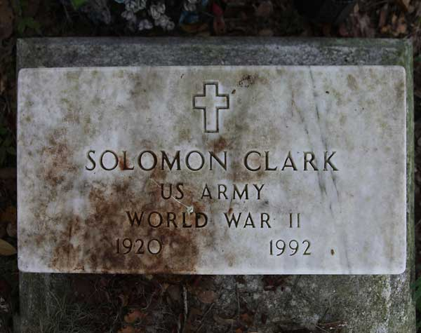 Solomon Clark Gravestone Photo