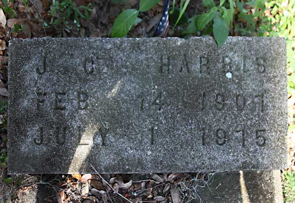 J C. Harris Gravestone Photo