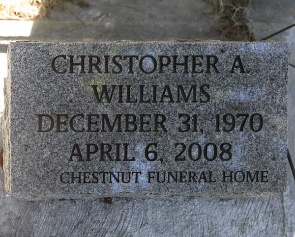 Christopher A. Williams Gravestone Photo