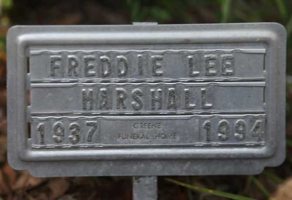Freddie Lee Marshall Gravestone Photo