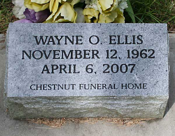 Wayne O. Ellis Gravestone Photo