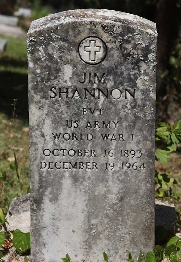 Jim Shannon Gravestone Photo
