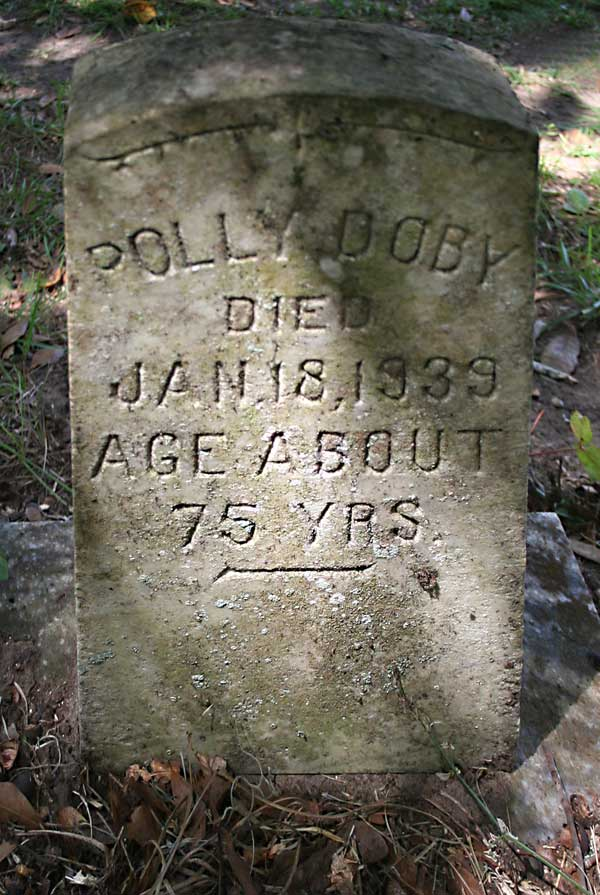 Polly Doby Gravestone Photo