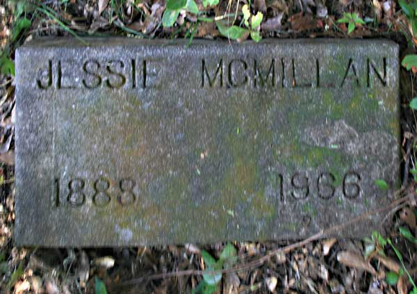 Jessie McMillan Gravestone Photo